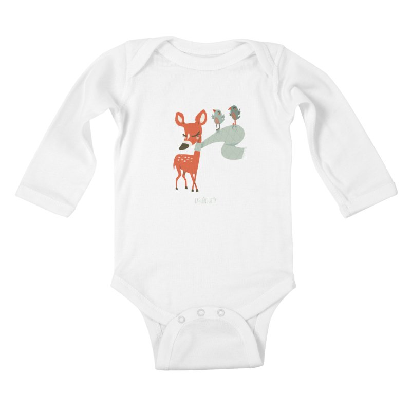 Winter Deer Kids Baby Longsleeve Bodysuit by Babykarot Shop
