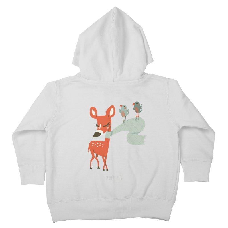 Winter Deer Kids Toddler Zip-Up Hoody by Babykarot Shop