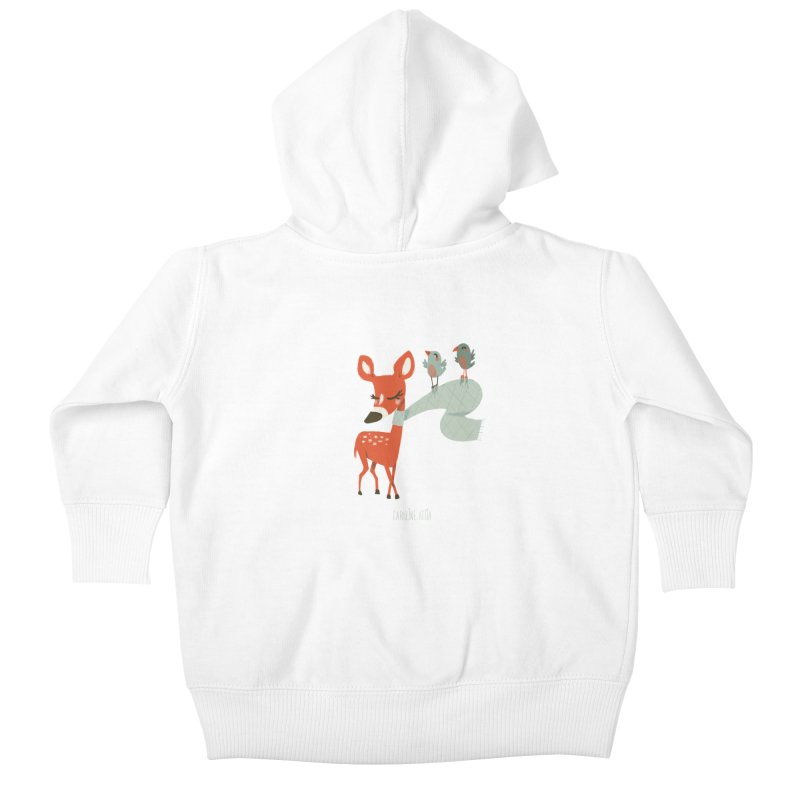 Winter Deer Kids Baby Zip-Up Hoody by Babykarot Shop