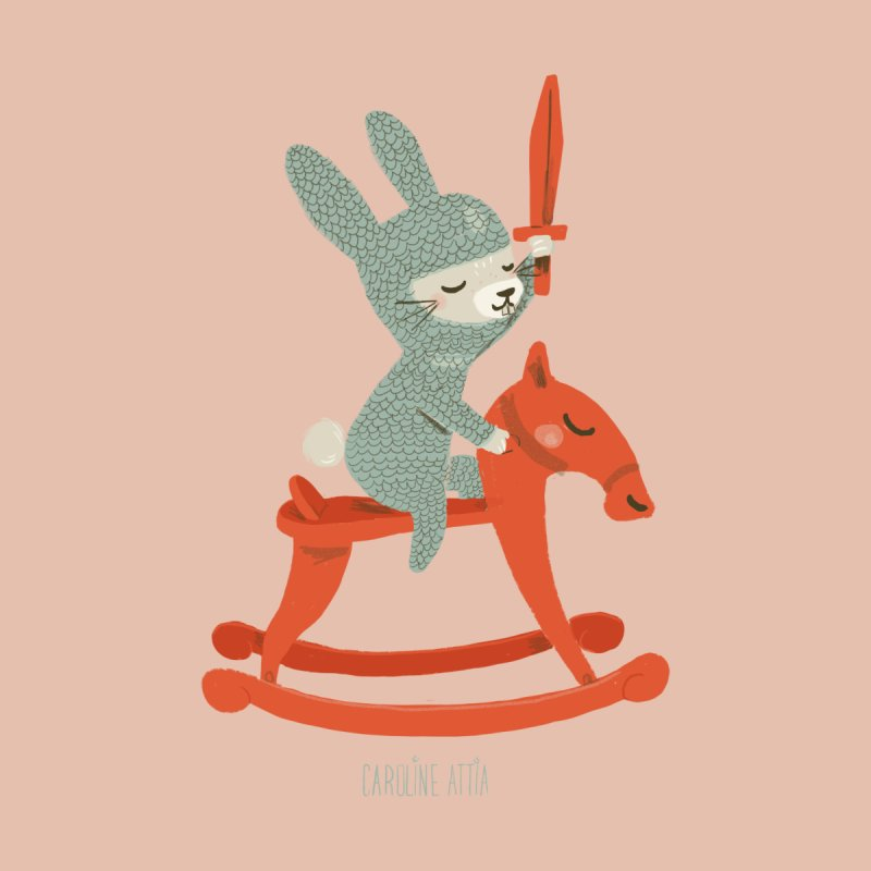 Rabbit Knight Kids T-Shirt by Babykarot Shop