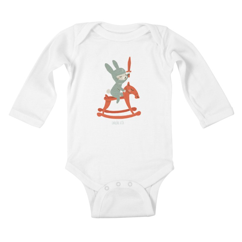 Rabbit Knight Kids Baby Longsleeve Bodysuit by Babykarot Shop