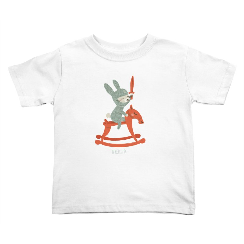 Rabbit Knight Kids Toddler T-Shirt by Babykarot Shop