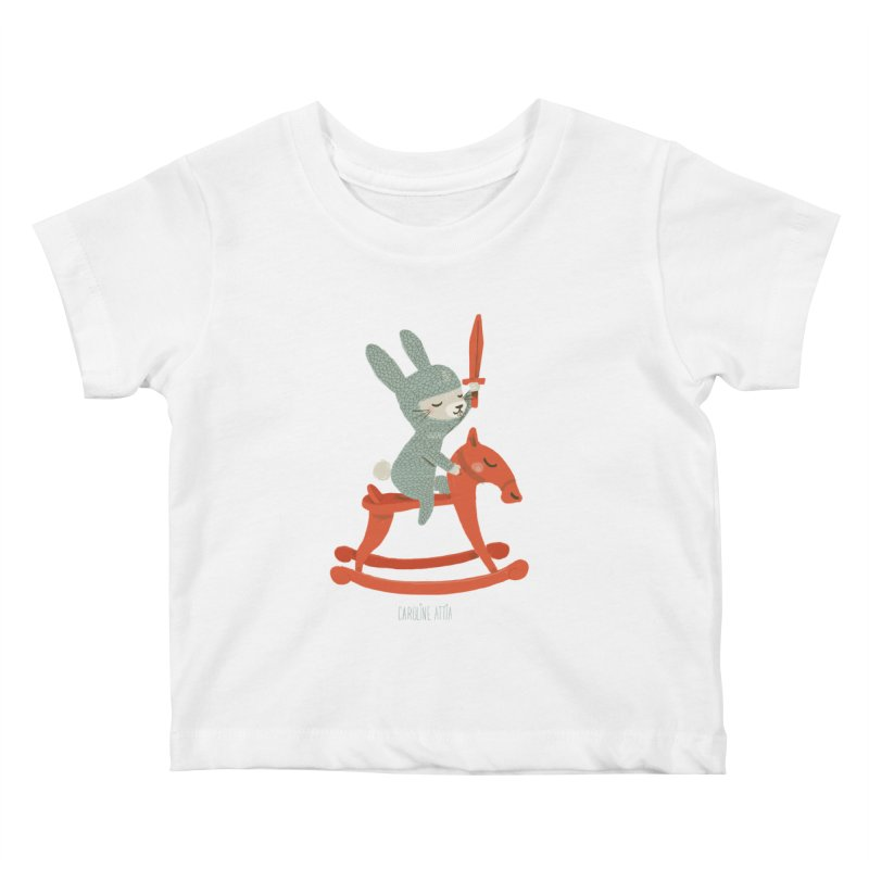 Rabbit Knight Kids Baby T-Shirt by Babykarot Shop