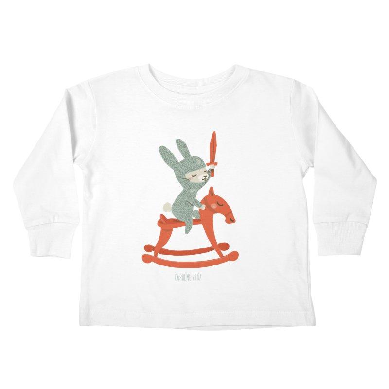 Rabbit Knight Kids Toddler Longsleeve T-Shirt by Babykarot Shop