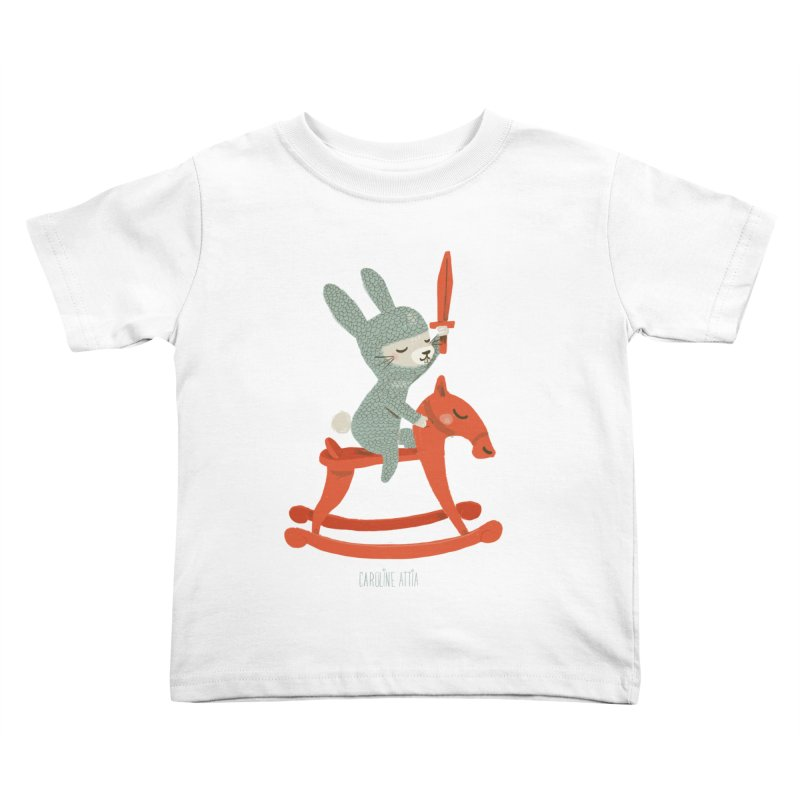 Rabbit Knight Kids Toddler T-Shirt by Babykarot Shop