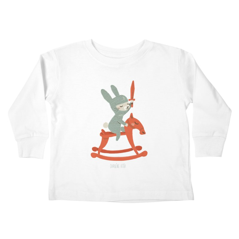 Rabbit Knight Kids Toddler Longsleeve T-Shirt by Babykarot Shop