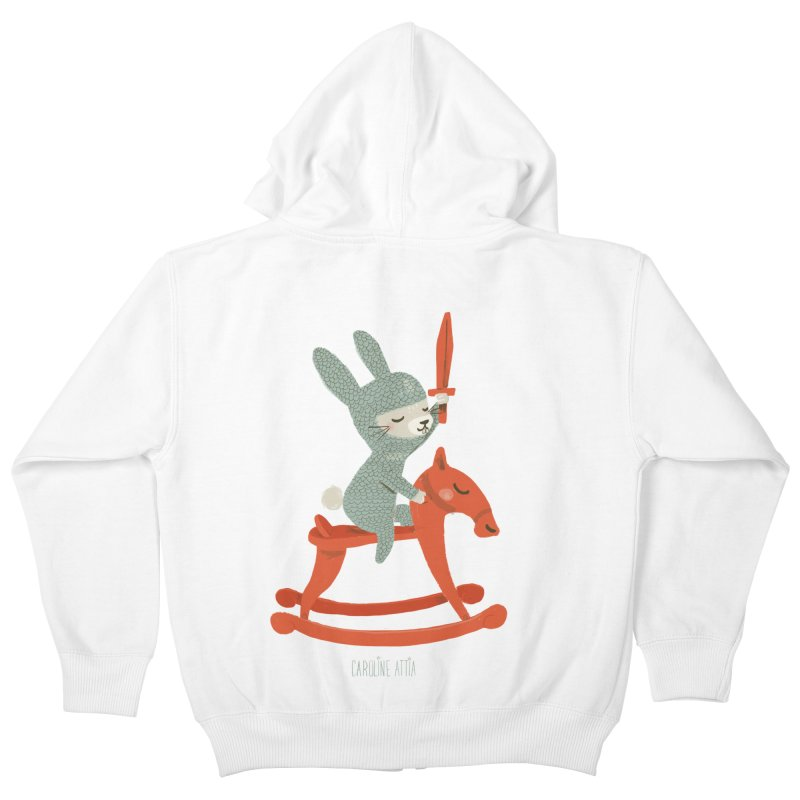 Rabbit Knight Kids Zip-Up Hoody by Babykarot Shop