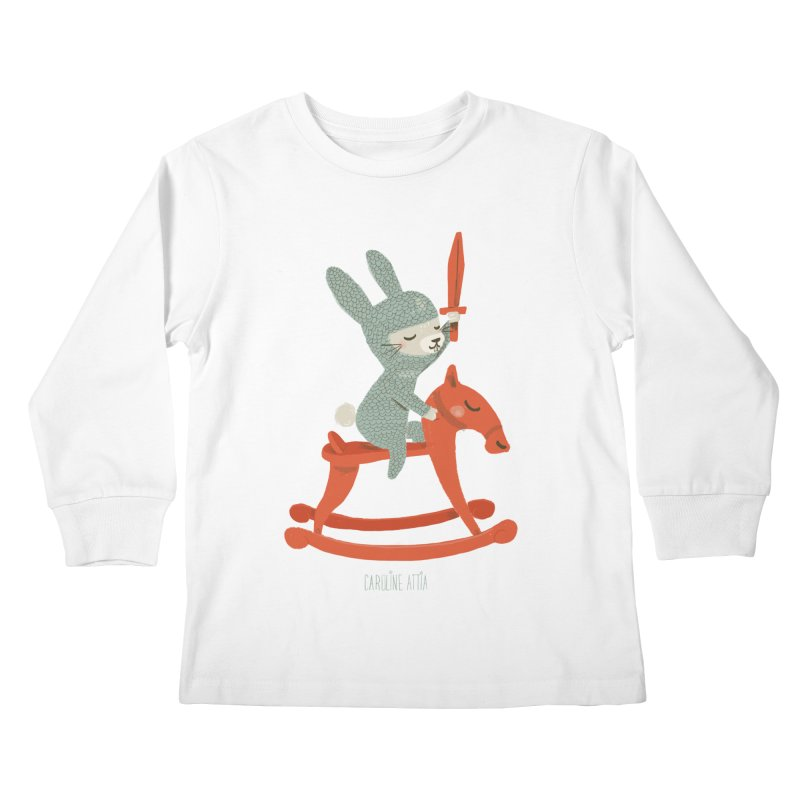 Rabbit Knight Kids Longsleeve T-Shirt by Babykarot Shop