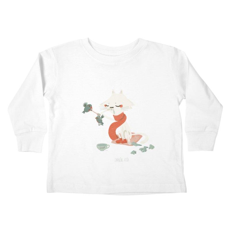 Sneeze Cat Kids Toddler Longsleeve T-Shirt by Babykarot Shop
