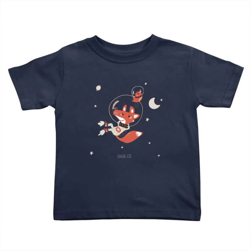 Space Fox Kids Toddler T-Shirt by Babykarot Shop