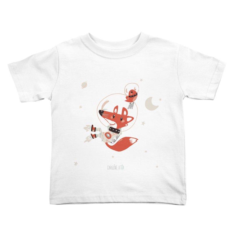 Space Fox Kids Toddler T-Shirt by Babykarot Shop