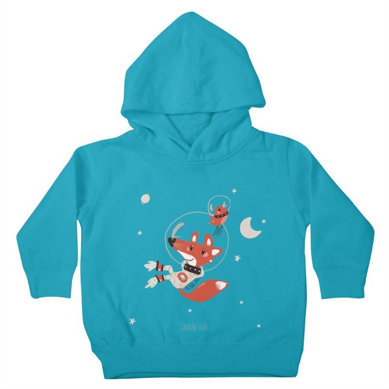 Space Fox Kids Toddler Pullover Hoody by Babykarot Shop