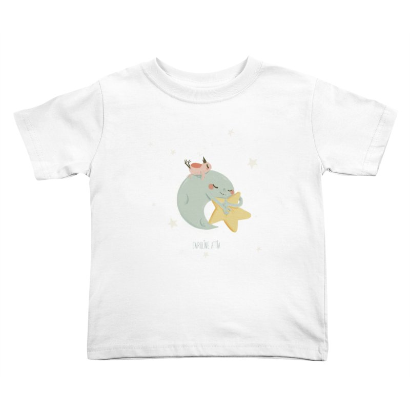 Moon Napping  Kids Toddler T-Shirt by Babykarot Shop