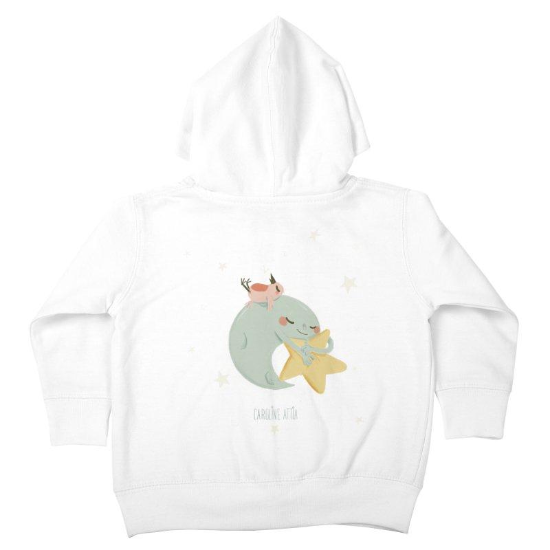 Moon Napping  Kids Toddler Zip-Up Hoody by Babykarot Shop