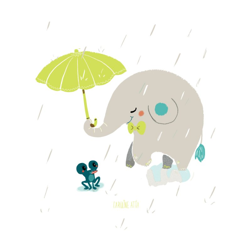 Rainy Elephant by Babykarot Shop