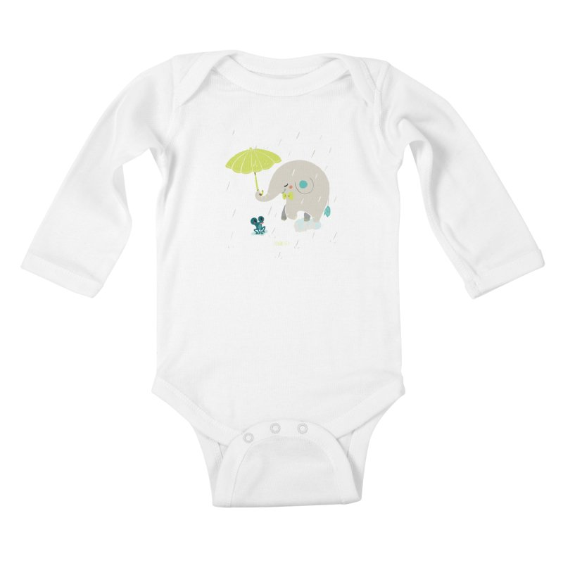 Rainy Elephant Kids Baby Longsleeve Bodysuit by Babykarot Shop