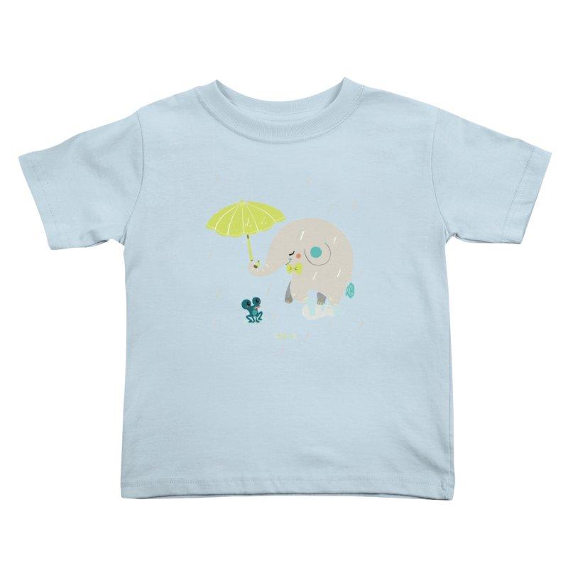 Rainy Elephant Kids Toddler T-Shirt by Babykarot Shop