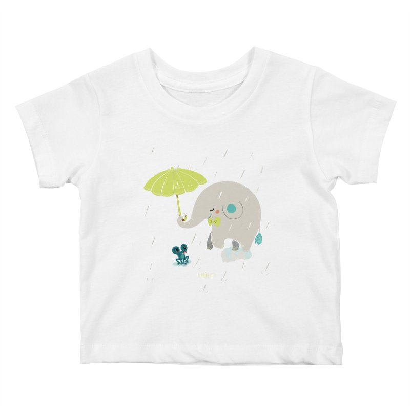 Rainy Elephant Kids Baby T-Shirt by Babykarot Shop