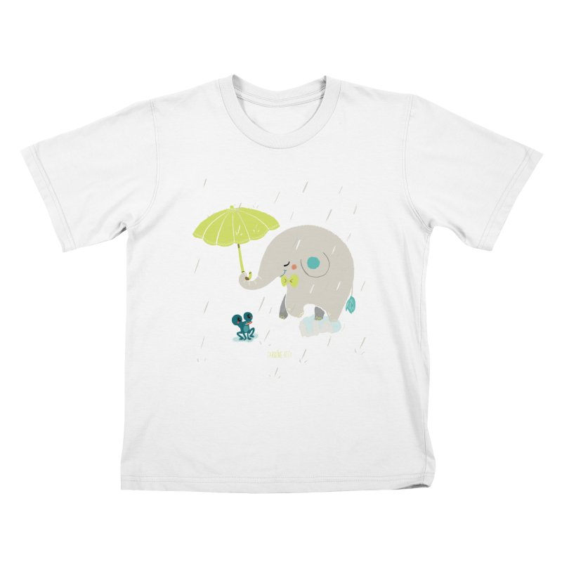 Rainy Elephant Kids T-shirt by Babykarot Shop