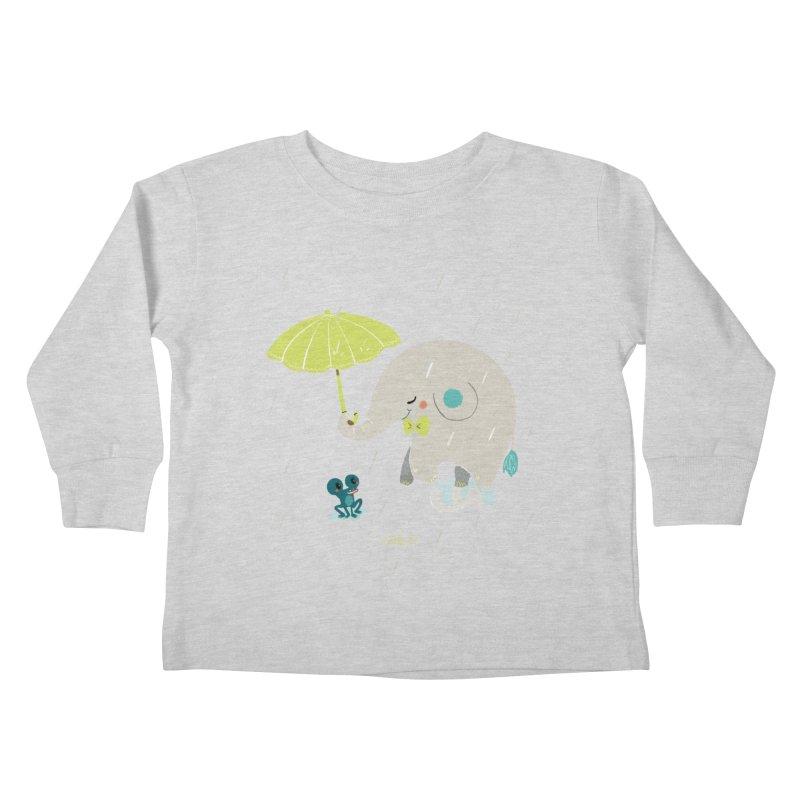 Rainy Elephant Kids Toddler Longsleeve T-Shirt by Babykarot Shop