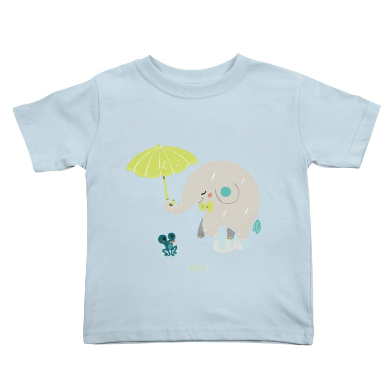 Rainy Elephant Kids Toddler T-Shirt by Babykarot Shop