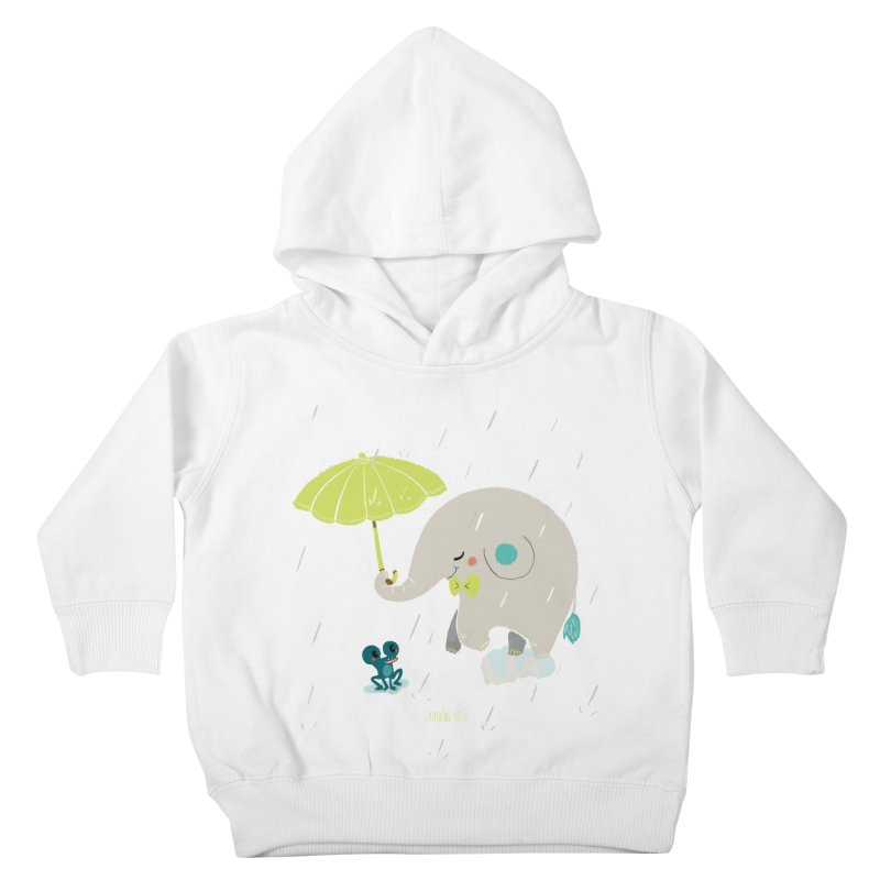 Rainy Elephant in Kids Toddler Pullover Hoody White by Babykarot Shop