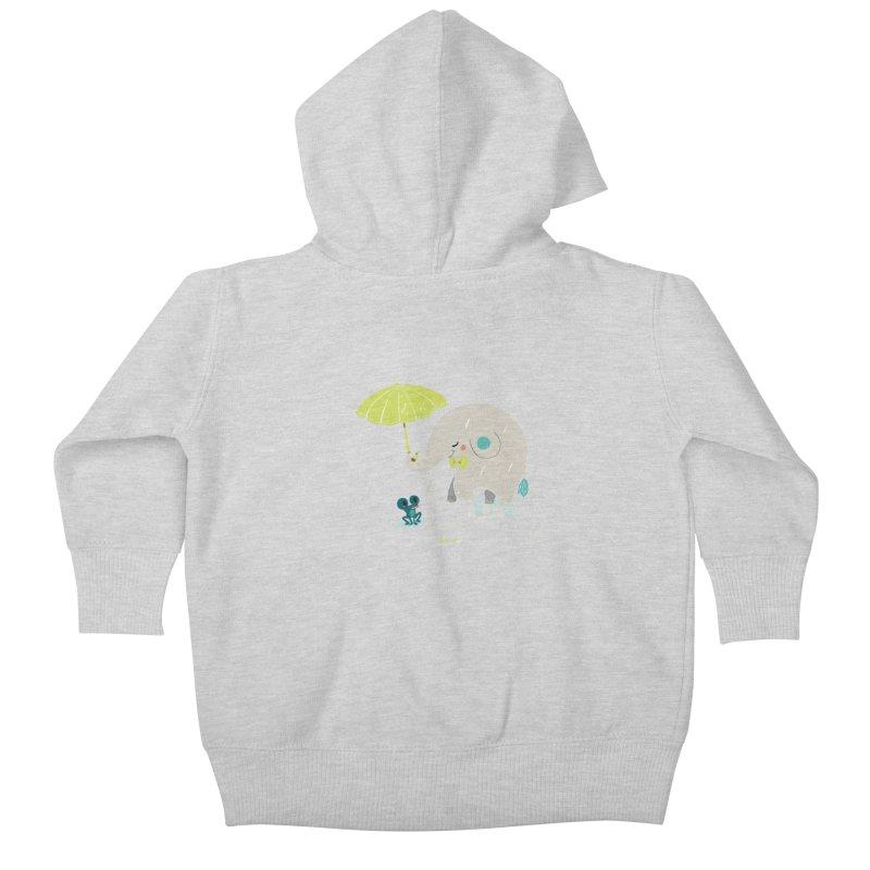 Rainy Elephant Kids Baby Zip-Up Hoody by Babykarot Shop