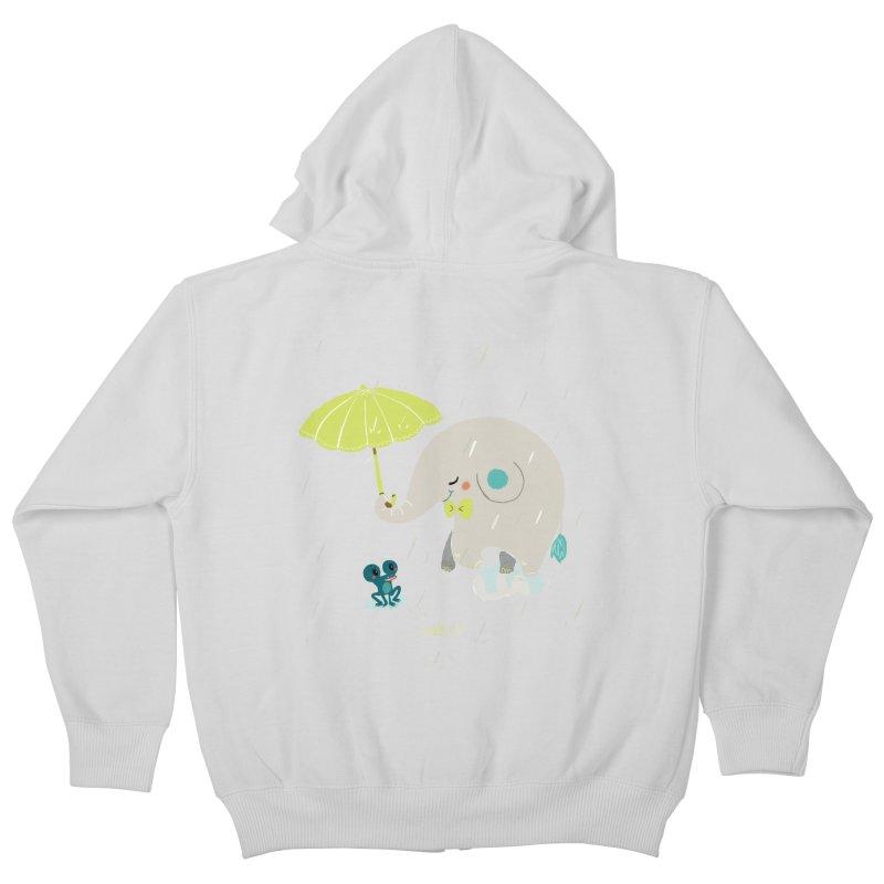 Rainy Elephant Kids Zip-Up Hoody by Babykarot Shop
