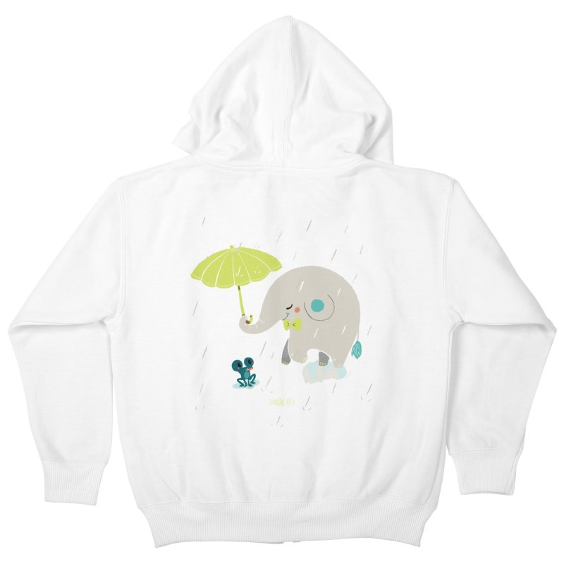 Rainy Elephant Kids Zip-Up Hoody by Babykarot Shop