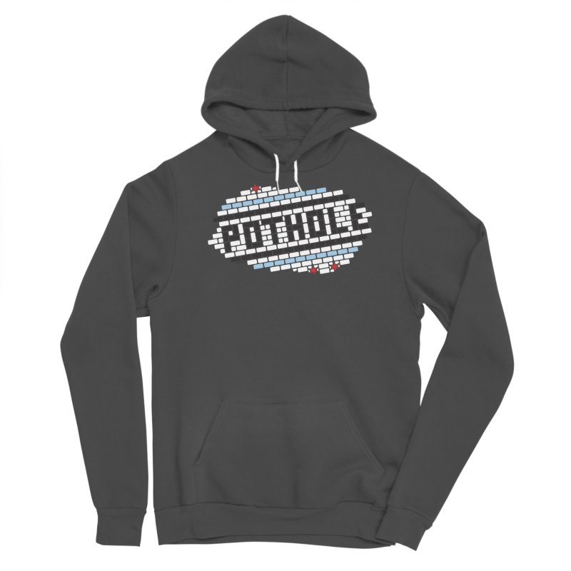 Deteriorating POTHOLE logo Men's Pullover Hoody by bachor's pothole art shop