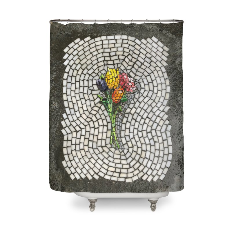 NYC Bouquet Home Shower Curtain by bachor's pothole art shop