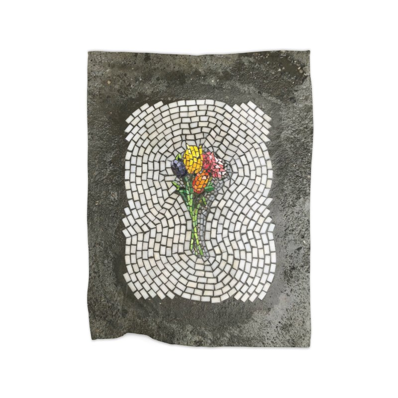 NYC Bouquet Home Blanket by bachor's pothole art shop