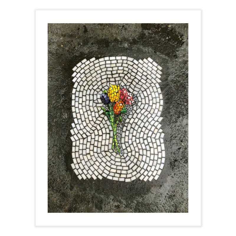NYC Bouquet Home Fine Art Print by bachor's pothole art shop