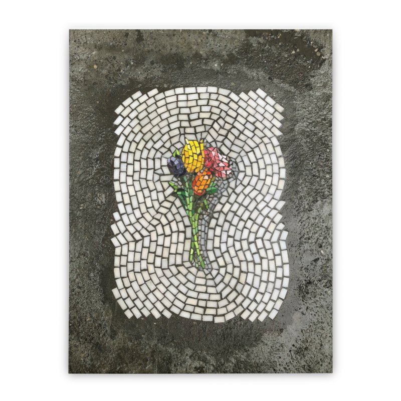 NYC Bouquet Home Stretched Canvas by bachor's pothole art shop