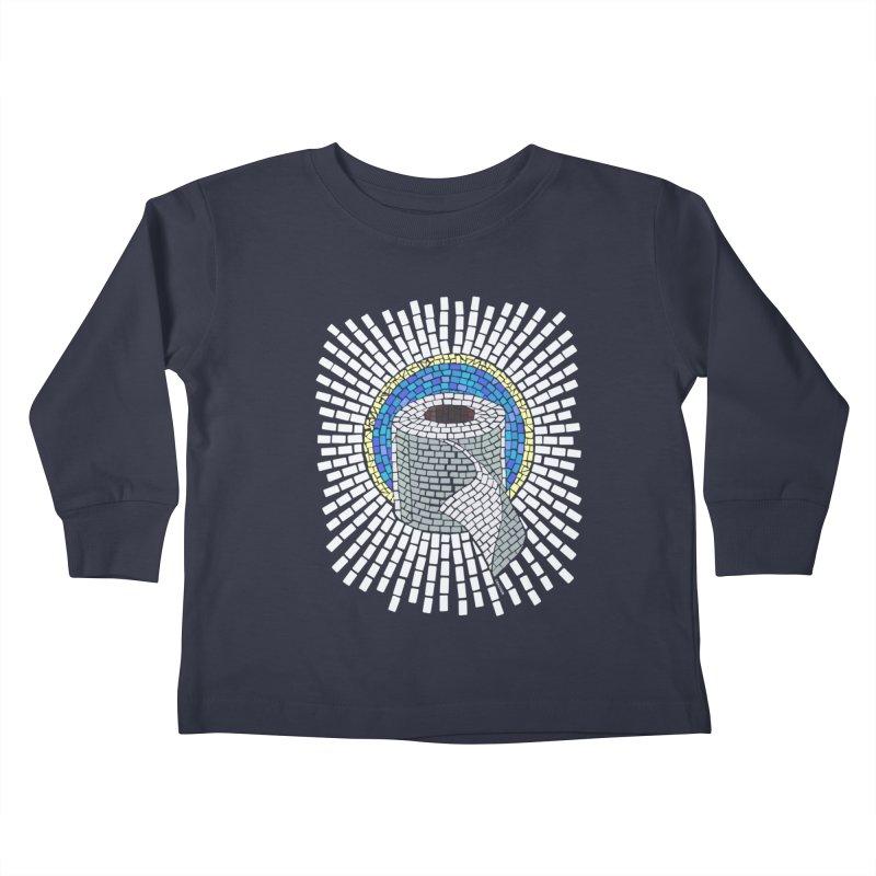 """Holy Trinity / Toilet Paper"" Kids Toddler Longsleeve T-Shirt by bachor's pothole art shop"