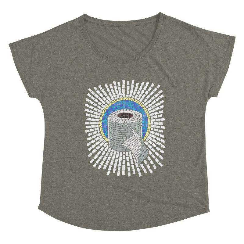 """Holy Trinity / Toilet Paper"" Women's Scoop Neck by bachor's pothole art shop"