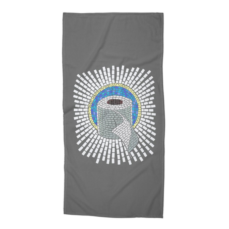 """Holy Trinity / Toilet Paper"" Accessories Beach Towel by bachor's pothole art shop"