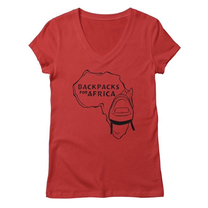 Classic Logo Women's V-Neck by backpacksforafrica's Artist Shop