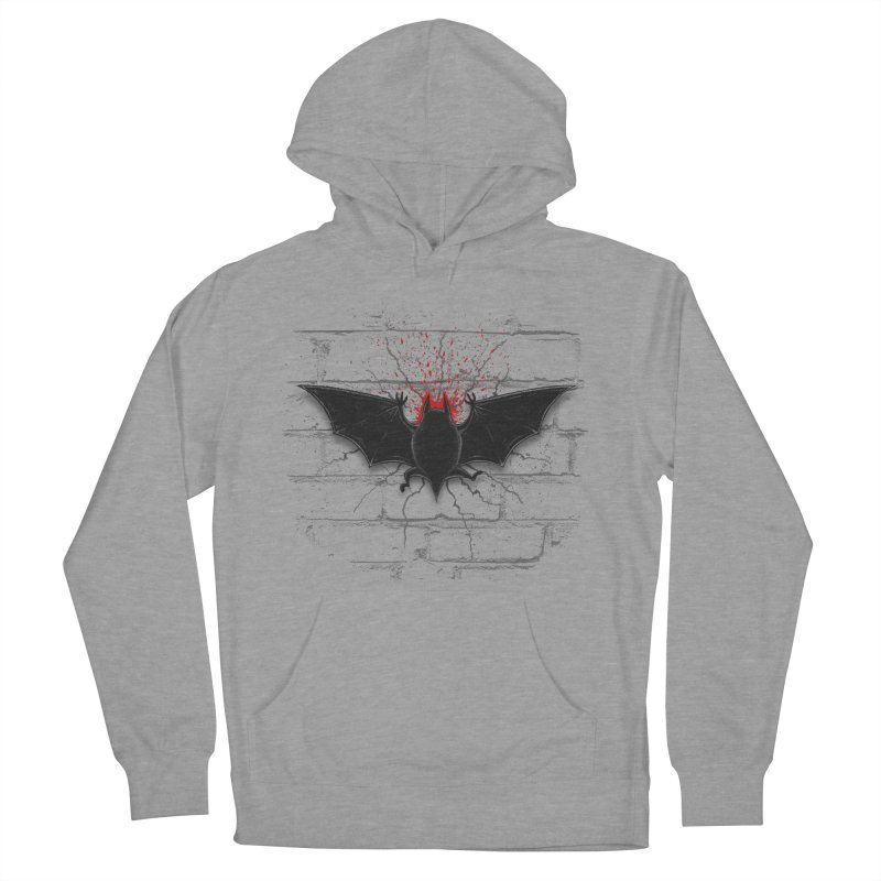Bat Landing Men's French Terry Pullover Hoody by bada's Artist Shop