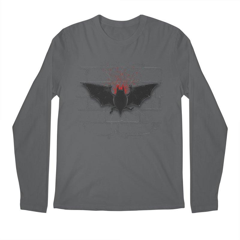 Bat Landing Men's Longsleeve T-Shirt by bada's Artist Shop
