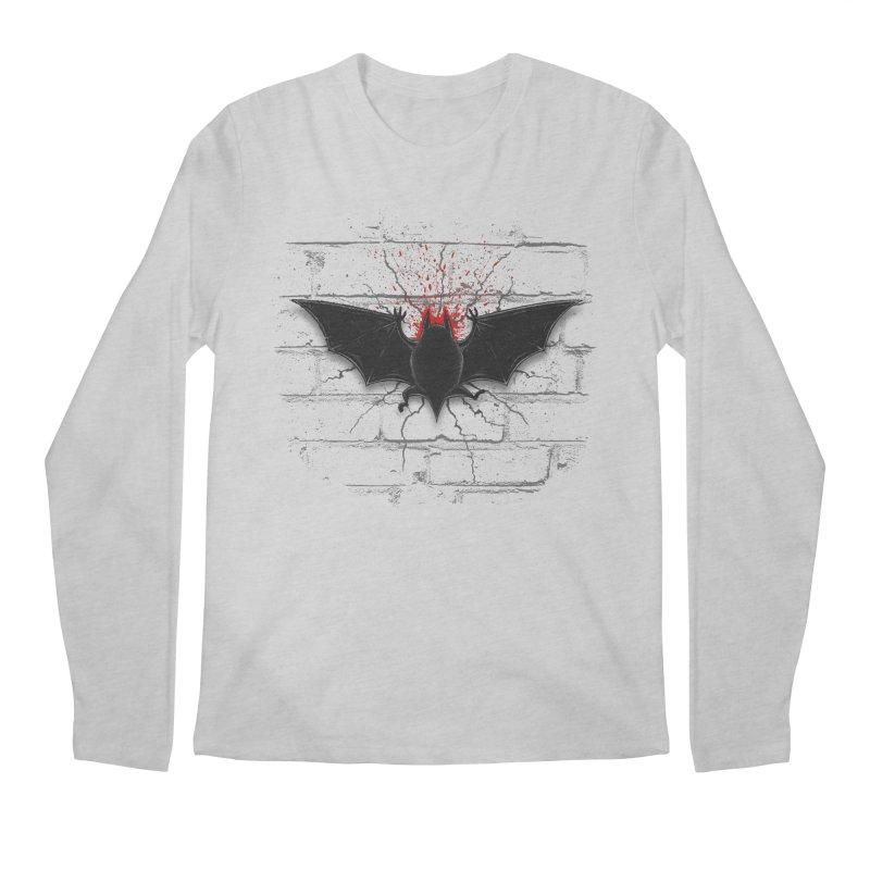 Bat Landing Men's Regular Longsleeve T-Shirt by bada's Artist Shop