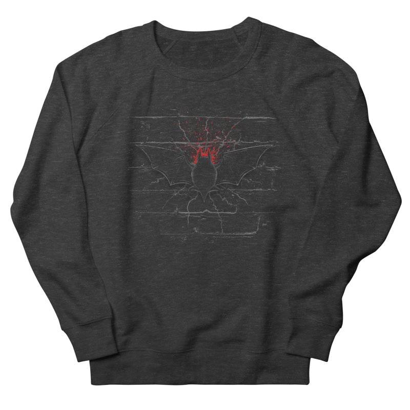 Bat Landing Men's Sweatshirt by bada's Artist Shop