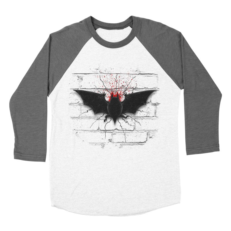 Bat Landing Men's Baseball Triblend T-Shirt by bada's Artist Shop