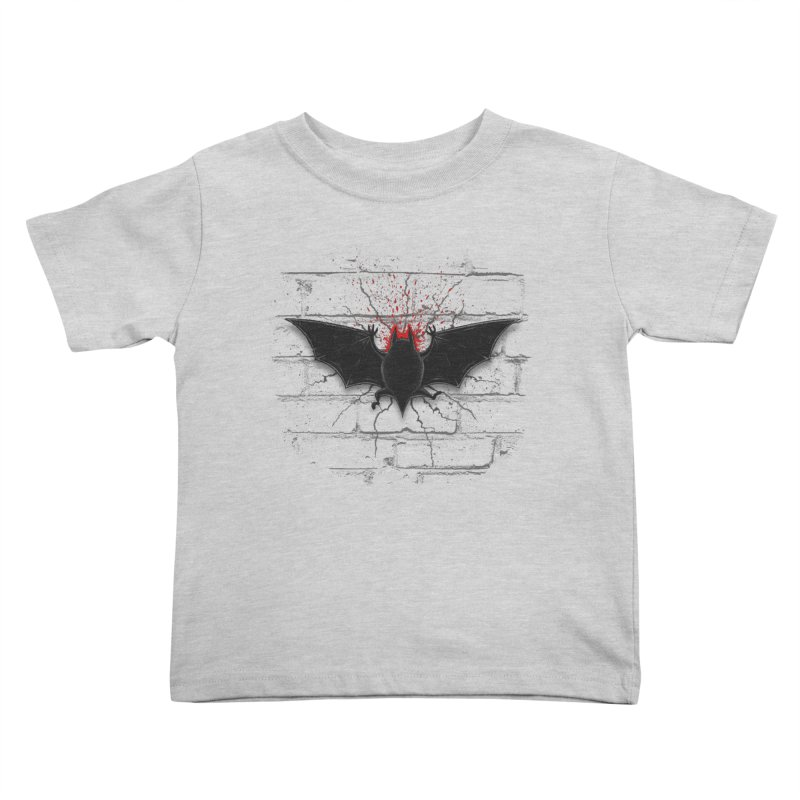 Bat Landing Kids Toddler T-Shirt by bada's Artist Shop
