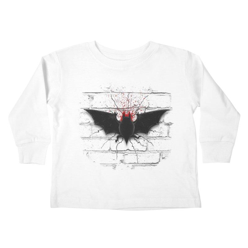 Bat Landing Kids Toddler Longsleeve T-Shirt by bada's Artist Shop