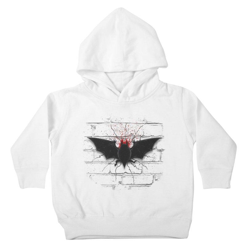 Bat Landing Kids Toddler Pullover Hoody by bada's Artist Shop