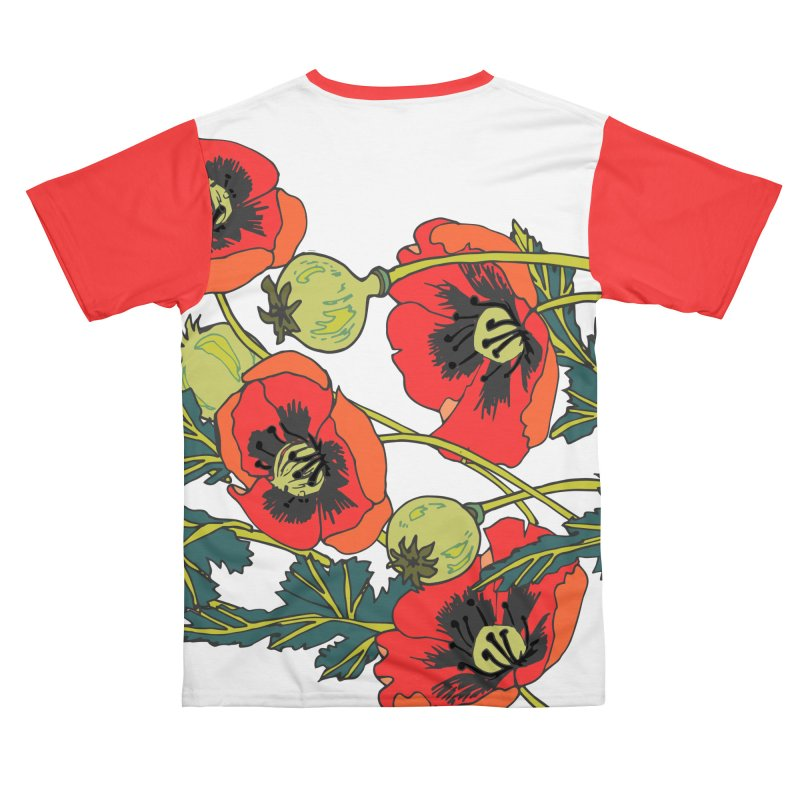 Red Poppies Women's Cut & Sew by bad arithmetic