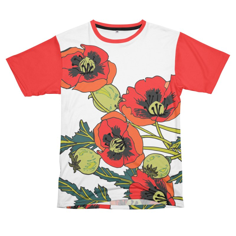 Red Poppies Women's Unisex T-Shirt Cut & Sew by bad arithmetic