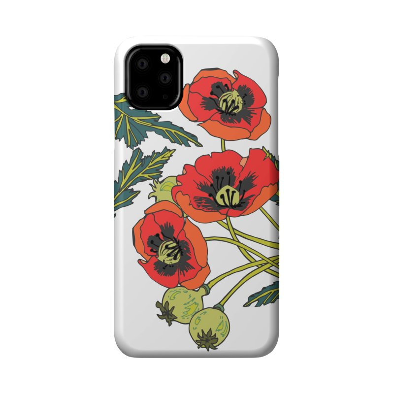Red Poppies Accessories Phone Case by bad arithmetic