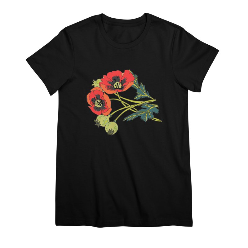 Red Poppies Women's Premium T-Shirt by bad arithmetic
